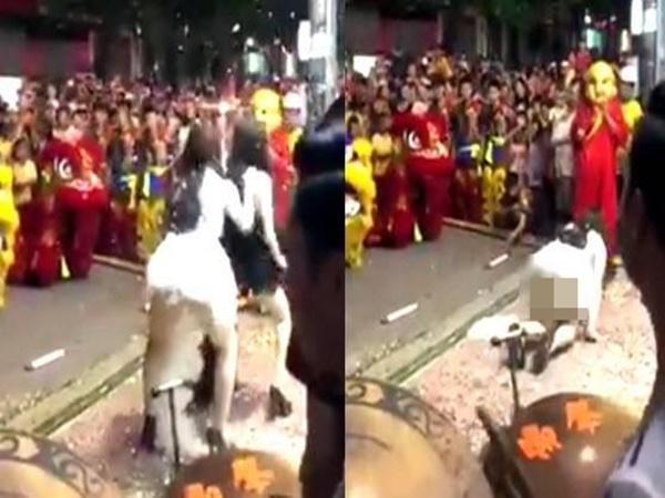 Clip: 2 cô gái mặc váy ngắn cũn cỡn nhảy sexy phản cảm trước mặt trẻ em trong đêm Trung thu
