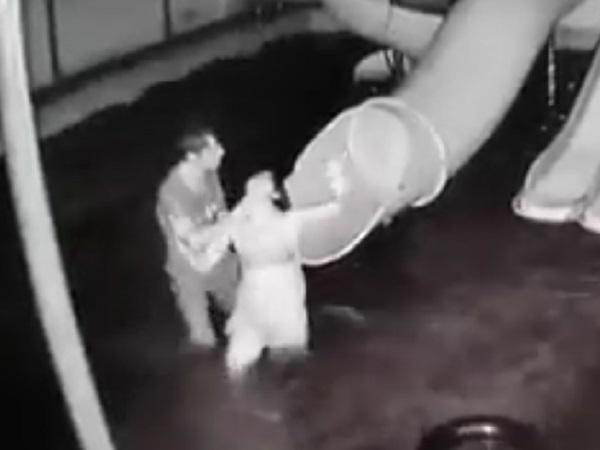 Clip chồng dìm vợ xuống nước, đánh đập dã man ngay trước mặt con nhỏ gây phẫn nộ