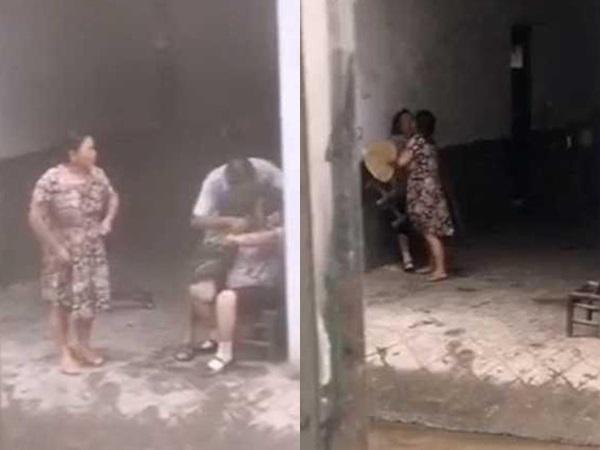Phẫn nộ clip con trai bênh vợ, nhổ cỏ nhét vào miệng mẹ già 80 tuổi: 'Bà có ăn hay không?'