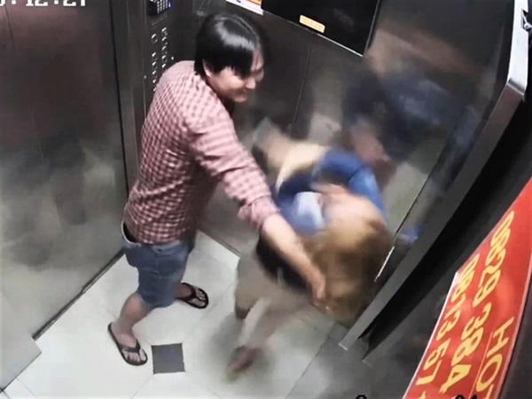 TP.HCM: Phẫn nộ clip gã đàn ông túm tóc, đập đầu cô gái vào tường tới tấp trong thang máy