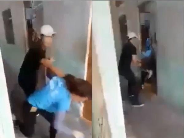 Clip vợ bị chồng đánh, đạp vào đầu khiến hàng nghìn chị em tức giận đến rơi nước mắt