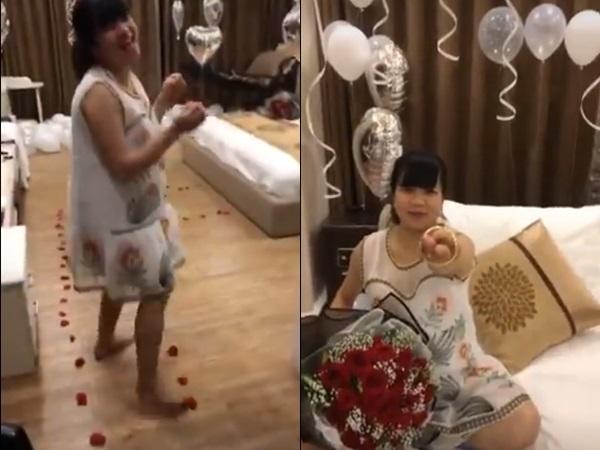 Giữa trăm vụ đánh ghen ồn ào, clip vợ bầu cười tít mắt trong tiệc sinh nhật bí mật khiến ai xem cũng thấy vui