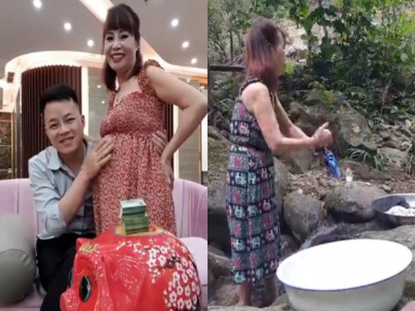 Cô dâu 62 tuổi livestream, bất ngờ lộ bụng xẹp lép khi ở quê chồng sau thời gian thông báo mang thai 5 tháng