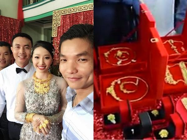 Cô dâu Hậu Giang mang trên người 1kg vàng trong đám cưới khiến nhiều chị em đỏ mắt ganh tỵ