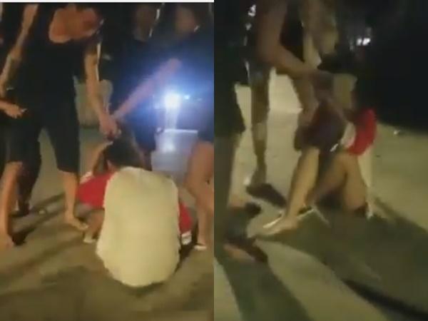 Clip cô gái bị nam thanh niên nắm tóc, đạp tới tấp vào mặt khiến người người phẫn nộ