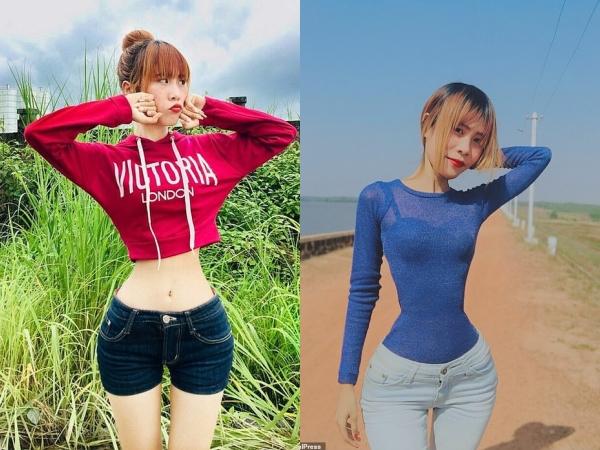 Cô gái sở hữu vòng eo 35cm, khoe body đồng hồ cát tưởng như photoshop nhưng sự thật lại khiến ai cũng trầm trồ
