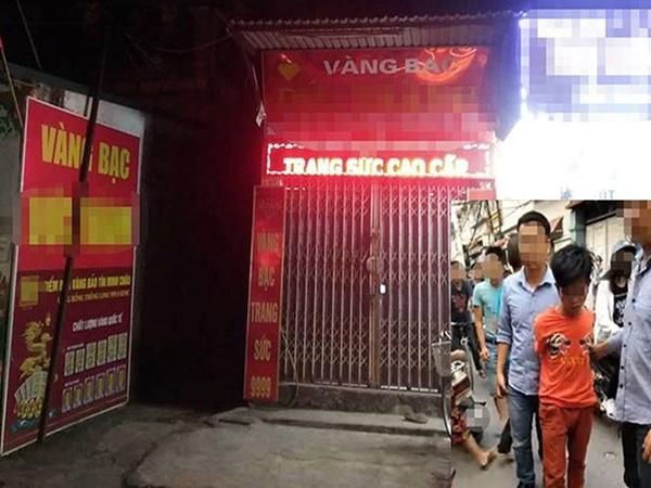 Nam thanh niên táo tợn cướp tiệm vàng giữa Hà Nội