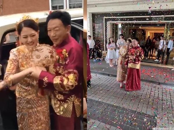 Đám cưới 'cặp đôi ông cháu' chênh nhau gần 40 tuổi gây xôn xao