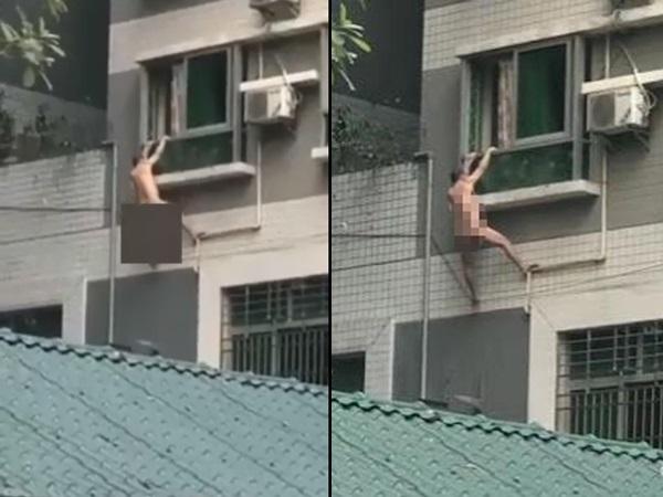 Trốn ngoài cửa sổ vì chồng nhân tình về lúc đang 'yêu', gã đàn ông trần như nhộng rớt từ tầng 4 xuống đất
