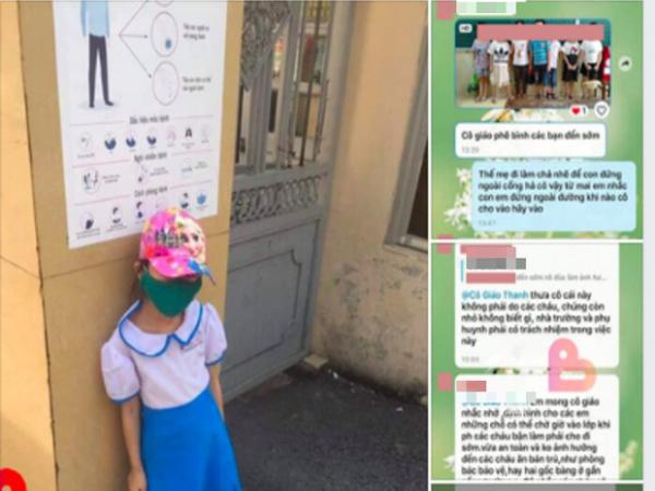 Hải Phòng: Học sinh lớp 1 bị chụp ảnh phê bình vì đi học sớm 15 phút, phải đứng ngoài cổng trường giữa trưa nắng 40 độ