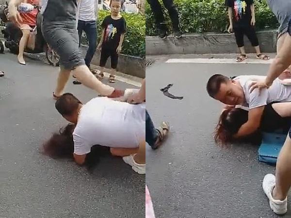 Bị bắt quả tang ngoại tình, hành động của người chồng khi chứng kiến bồ nhí bị đánh gây tranh cãi