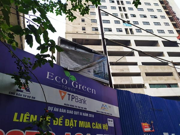 """Khách hàng mua dự án Eco Green Tower lọt """"bẫy"""" bảo lãnh?"""