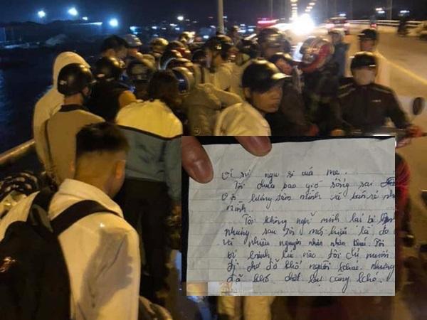 Hải Phòng: Mẹ ôm con 1 tuổi nhảy cầu tự tử, nhói lòng bức thư tuyệt mệnh