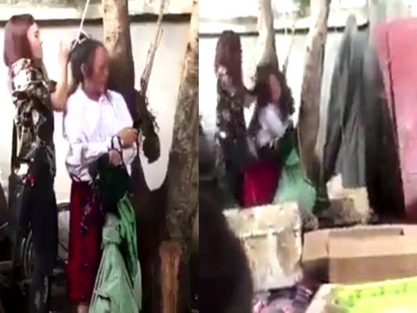 Trộm đồ, người phụ nữ mang thai bị trói vào gốc cây đánh đập dã man