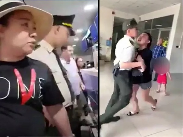 Nữ cán bộ công an lăng mạ nhân viên sân bay phân trần