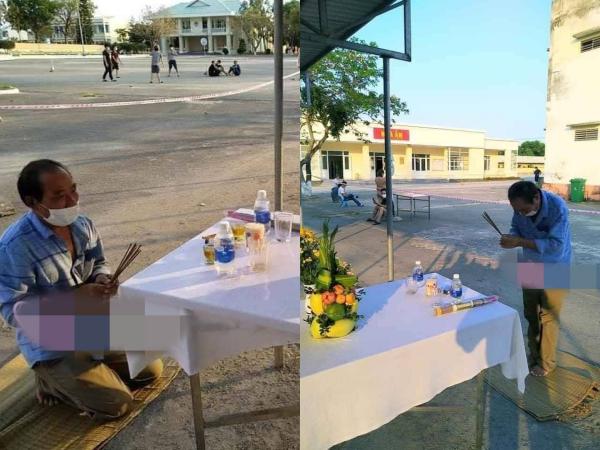 Rơi nước mắt cảnh người đàn ông lập bàn thờ, chịu tang cha già trong khu cách ly vì chưa thể về nhà
