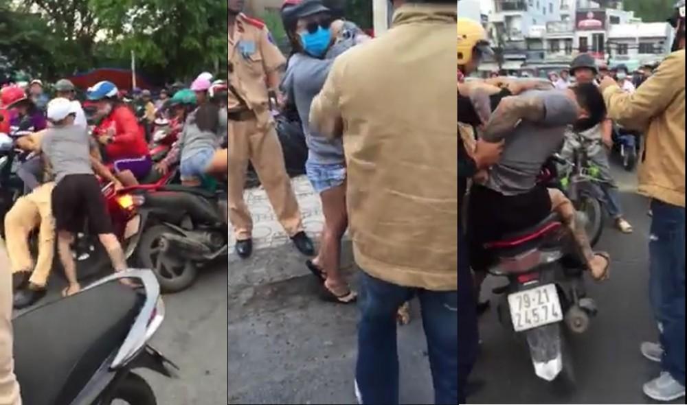 """Tạm giam nam thanh niên tấn công CSGT để """"giải cứu"""" bạn gái ở Nha Trang"""