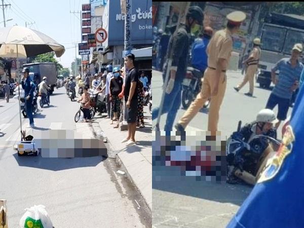 TP.HCM: Vợ tử vong thương tâm dưới bánh xe tải, chồng ôm thi thể khóc ngất