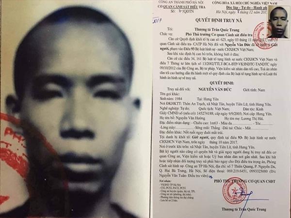 Truy nã kẻ máu lạnh giết người trên phố Hàng Bài