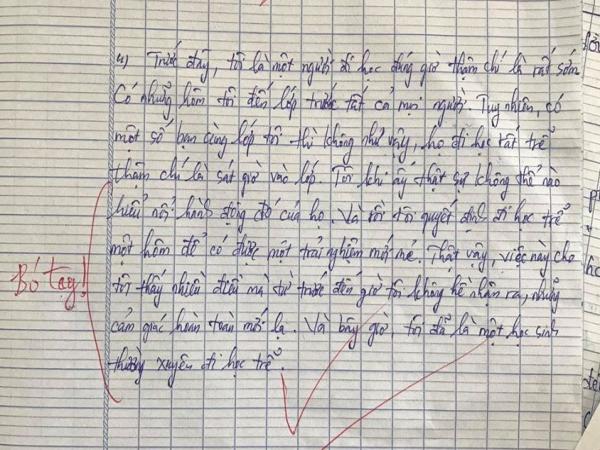 """Viết về điều đơn giản từng làm để thoát khỏi vùng an toàn, cô giáo phải thốt lên """"Bó tay"""" với nam sinh này"""