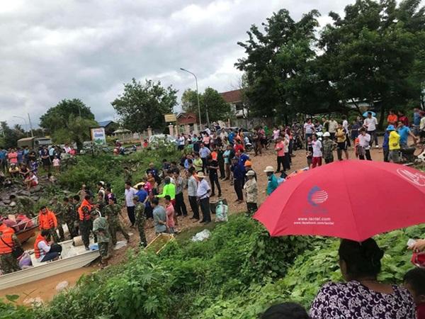 Vỡ đập thủy điện dọc sông Mekong ở Lào, hàng trăm người mất tích