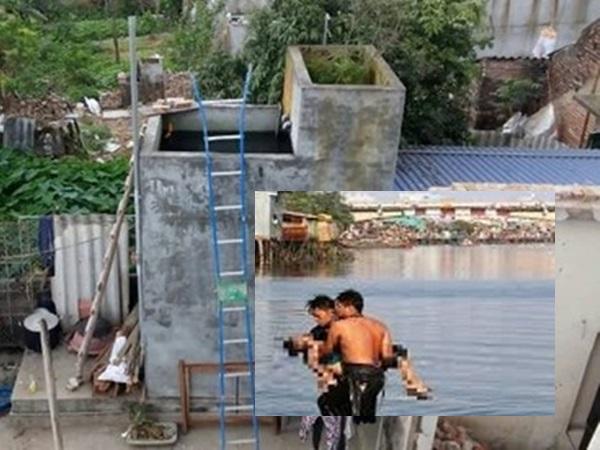 Ở nhà với ông nội, 2 cháu nhỏ chết đuối thương tâm trong bể nước