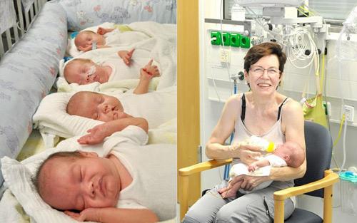 Gặp lại ca sinh 4 đáng yêu của mẹ U70 từng khiến cả thế giới 'choáng váng' - Ảnh 4