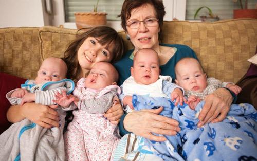 Gặp lại ca sinh 4 đáng yêu của mẹ U70 từng khiến cả thế giới 'choáng váng' - Ảnh 6
