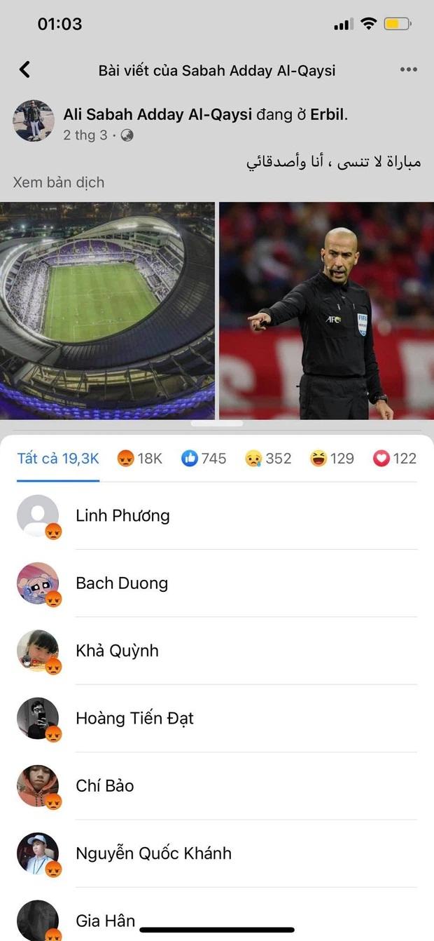 Đội tuyển Việt Nam thua quá nhanh trước UAE, Facebook trọng tài chính bị cộng đồng mạng thả phẫn nộ tăng theo từng giây! - Ảnh 6