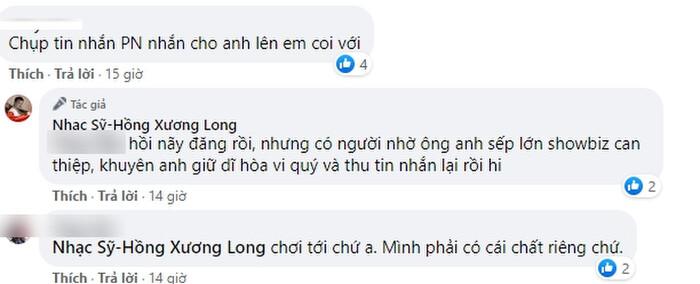 Nhạc sĩ Hồng Xương Long tung tin nhắn tố bị phía Phi Nhung uy hiếp, tiết lộ ekip Phi Nhung 'xin lỗi vì bức xúc nên lỡ lời' - Ảnh 2