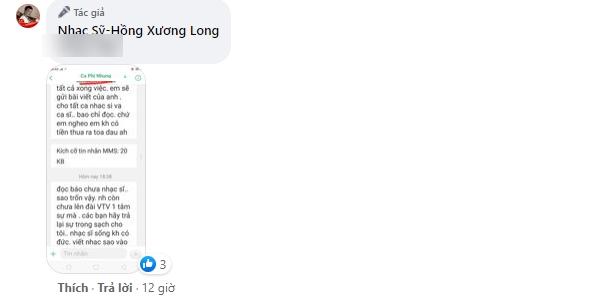 Nhạc sĩ Hồng Xương Long tung tin nhắn tố bị phía Phi Nhung uy hiếp, tiết lộ ekip Phi Nhung 'xin lỗi vì bức xúc nên lỡ lời' - Ảnh 3