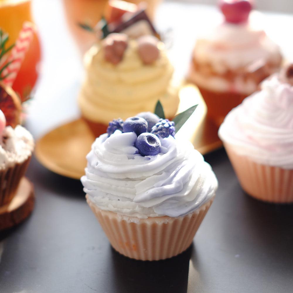 'Giấu nghề' đã lâu, chị đẹp quyết 'bung lụa' công thức làm nến thơm cupcake đa sắc màu - Ảnh 18