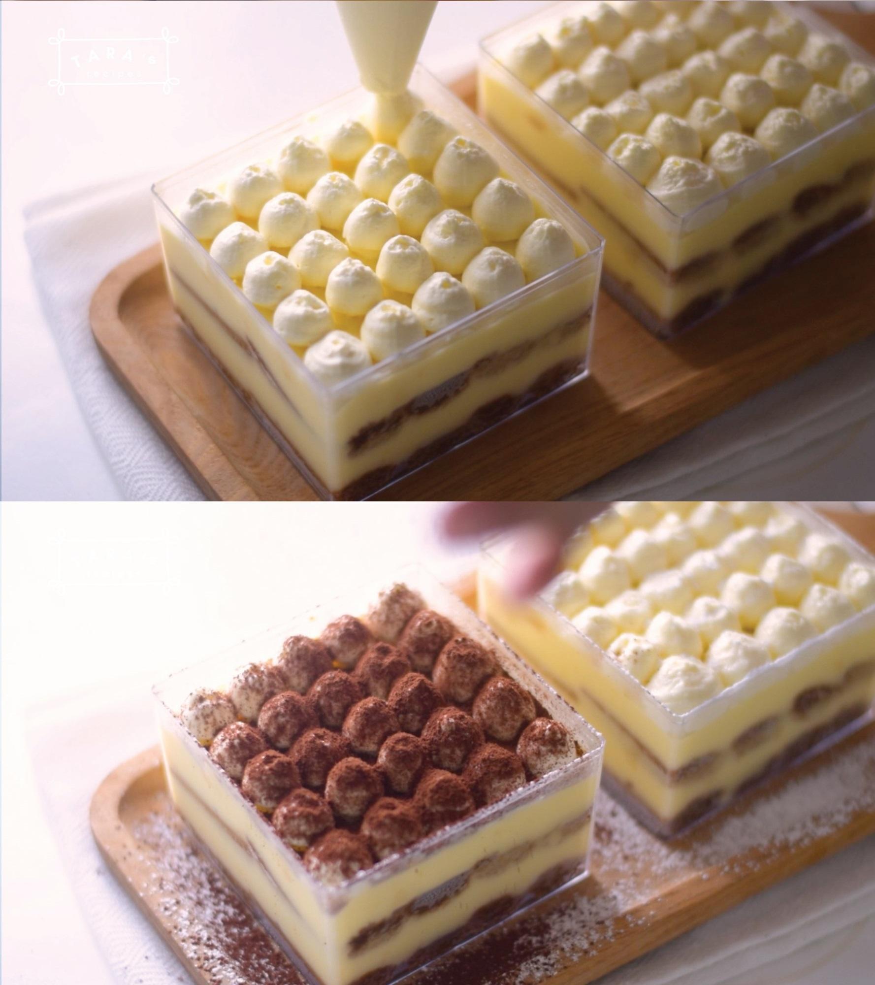 Cách làm bánh Tiramisu 'siêu tốc' - không cần lò nướng, không cần máy đánh trứng, không trứng gà - Ảnh 8