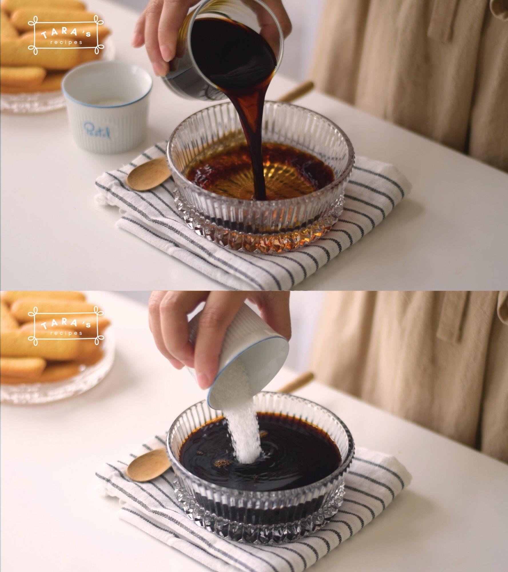 Cách làm bánh Tiramisu 'siêu tốc' - không cần lò nướng, không cần máy đánh trứng, không trứng gà - Ảnh 4