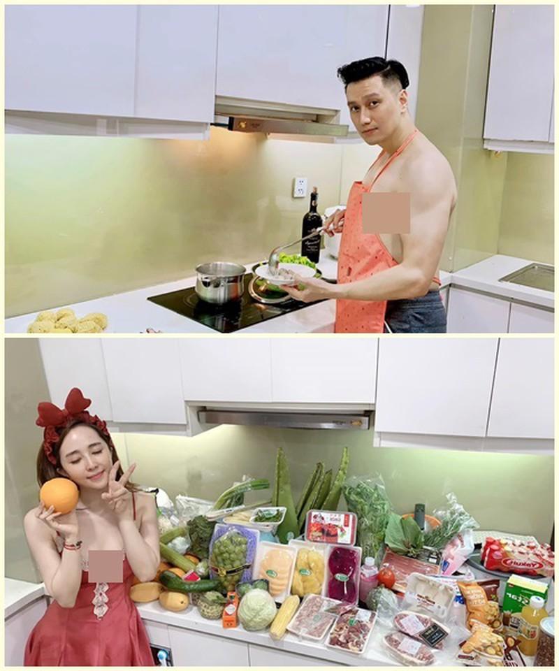 'Chối đây đẩy' nhưng Quỳnh Nga lại bị soi 'dính thính' Việt Anh khi đăng ảnh sexy vào bếp - Ảnh 4