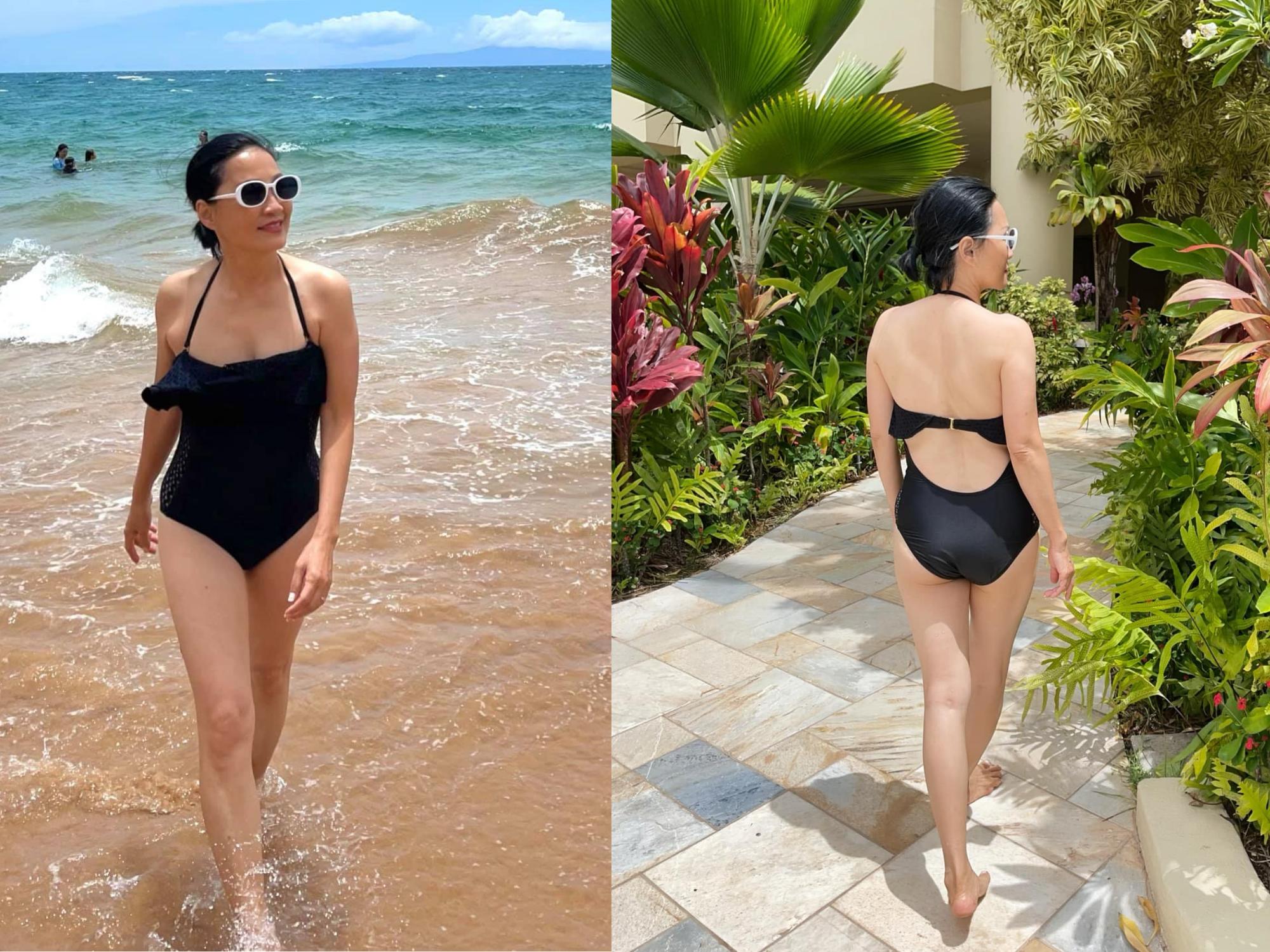 NS Hồng Đào thả dáng 'bốc lửa' với bikini dù chạm ngưỡng U60 nhưng body vẫn khiến 'vạn người mê'