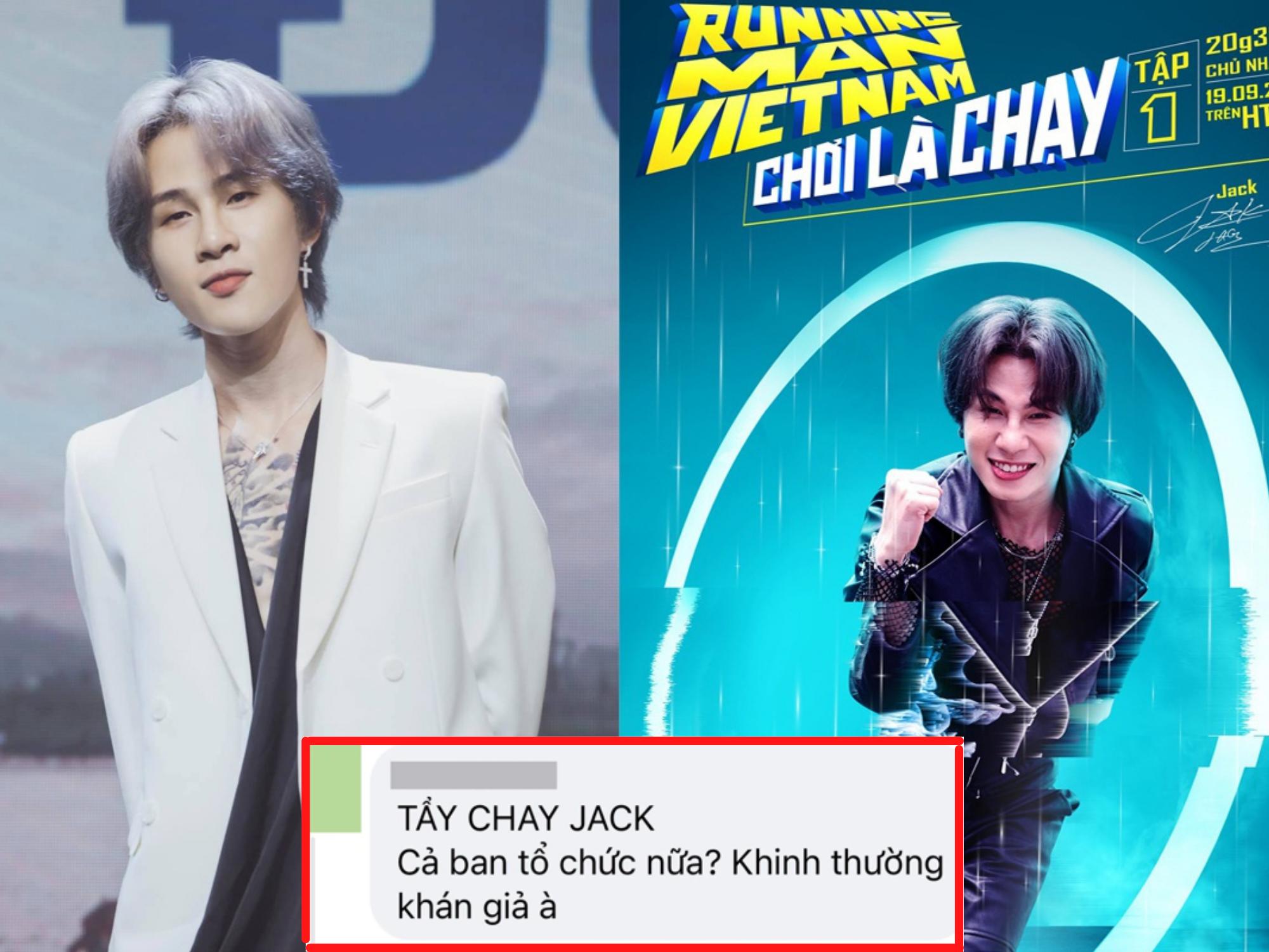 Netizen phẫn nộ 'đỏ cả trang' khi Jack lên sóng Running Man Việt: 'Xem thường khán giả, tẩy chay triệt để'