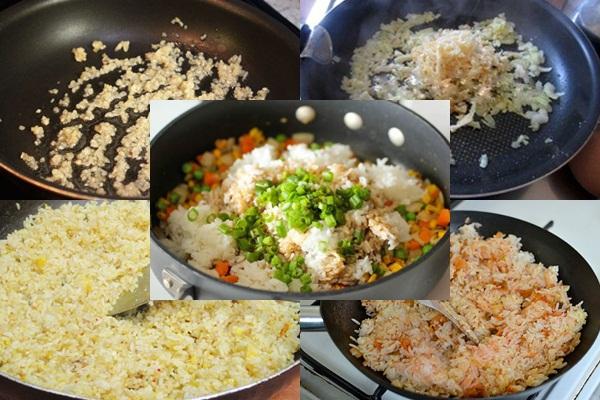Sau khi làm xong bạn sẽ có món cơm chiên cá mặn hấp dẫn
