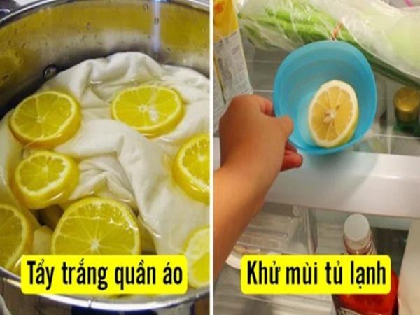7 công dụng tẩy rửa tuyệt vời của quả chanh có thể bạn chưa biết