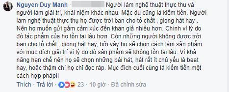 Duy Mạnh chia sẻ về ý kiến Chi Pu đi hát