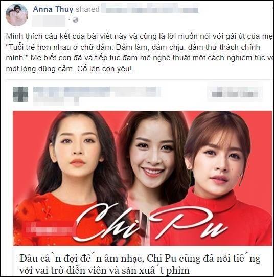 Mẹ và chị gái luôn ủng hộ Chi Pu