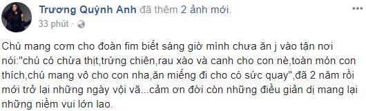 Trương Quỳnh Anh đăng status giữa tâm bão, tiết lộ đã quay trở lại công việc - Ảnh 1