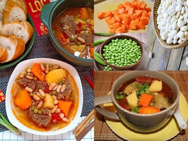 5 bước xong ngay món bò hầm đậu Hà Lan mềm thơm, bổ dưỡng