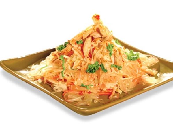 Cách làm gà nướng bưởi xốt dấm lạ miệng đưa cơm
