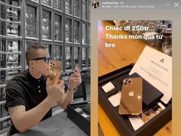 Clip cận cảnh chiếc iPhone 12 Pro Max mạ vàng trị giá 250 triệu của 'ông hoàng cách ly' Vũ Khắc Tiệp