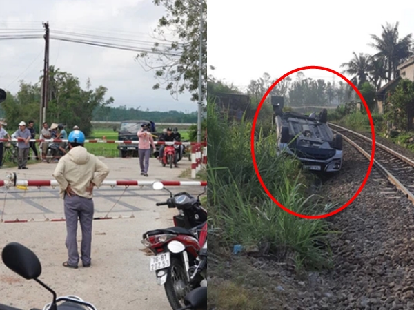 Ô tô va chạm với tàu hỏa, bé trai 2 tuổi tử vong, hai vợ chồng bị thương nặng