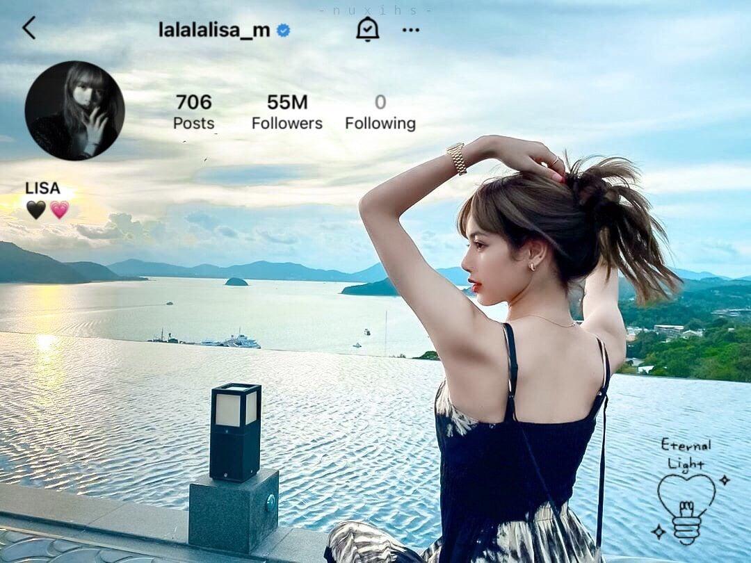 Lisa - Blackpink Idol Kpop đầu tiên đạt 55 triệu Followers trên Instagram