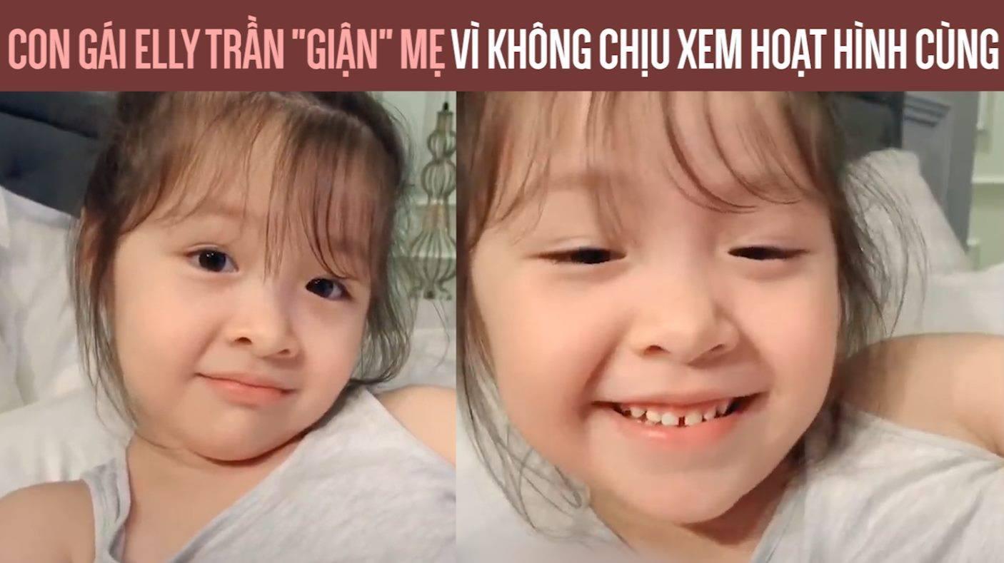 """Con gái Elly Trần """"giận"""" mẹ vì không chịu xem hoạt hình cùng"""