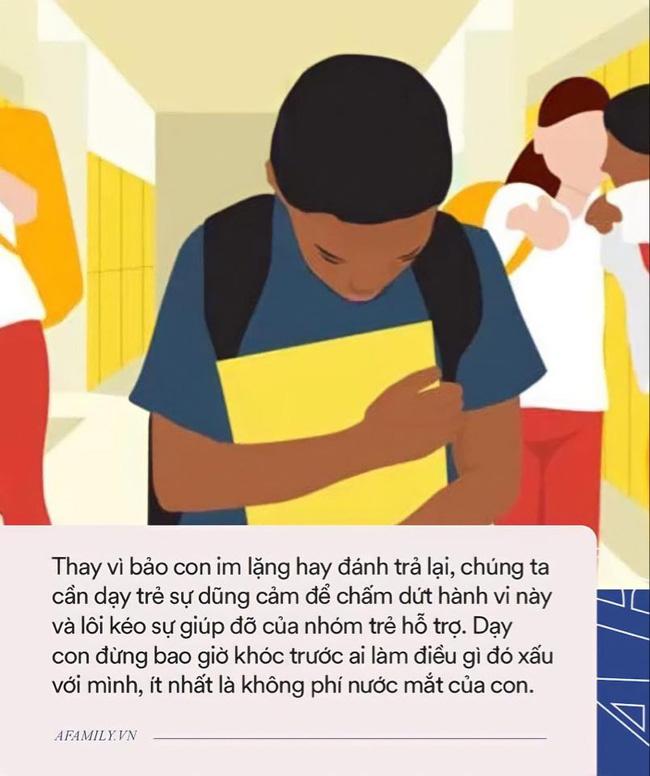Nhiều cha mẹ băn khoăn không biết phải làm gì khi con bị bắt nạt ở trường, dạy con đánh trả hay im lặng: Chuyên gia chỉ ra một cách khôn ngoan! - Ảnh 3