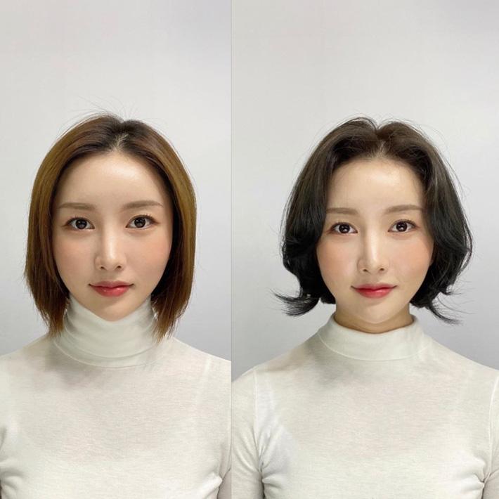 """10 pha """"biến hình"""" chứng minh tóc mái vi diệu thật, chị em trán hói mấy cũng 'lột xác' xinh sang hết sức - Ảnh 9"""